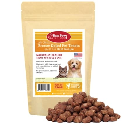 Raw Paws Pet Food - Healthy Dog Treats with NO Additives - Freeze Dried Beef & Chicken Training Treats
