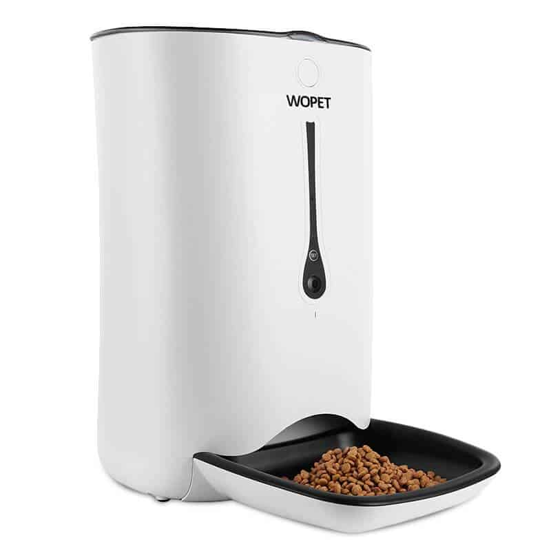 Wopet Automatic Dog Feeder With Voice Recorder & Camera - Smart Timed Feeder For Pets