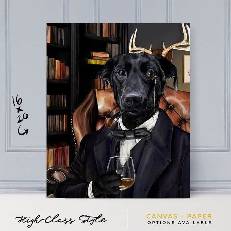Posh Pet Portrait For Dog Owners With A Sense Of Humour