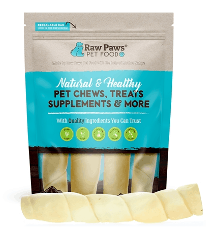 Raw Paws 10-inch Beef Cheek Rolls for Dogs - Natural Chew Treats